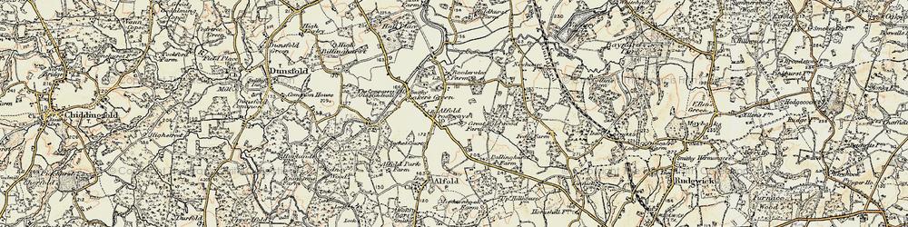 Old map of Alfold Crossways in 1897-1909