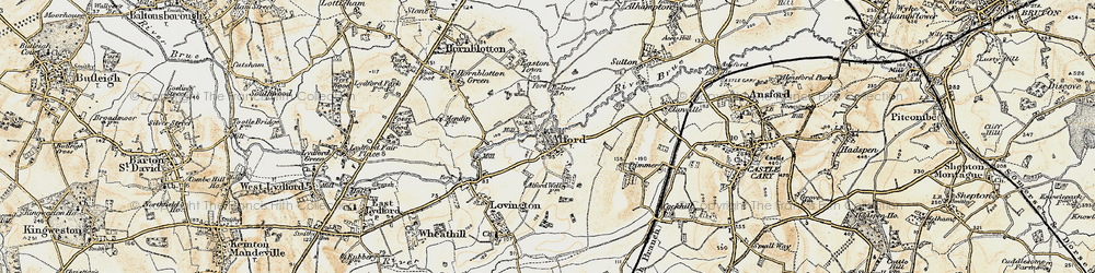 Old map of Alford in 1899