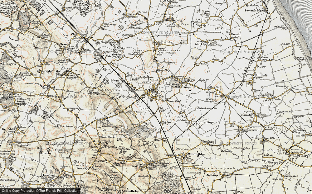 Old Map of Alford, 1902-1903 in 1902-1903