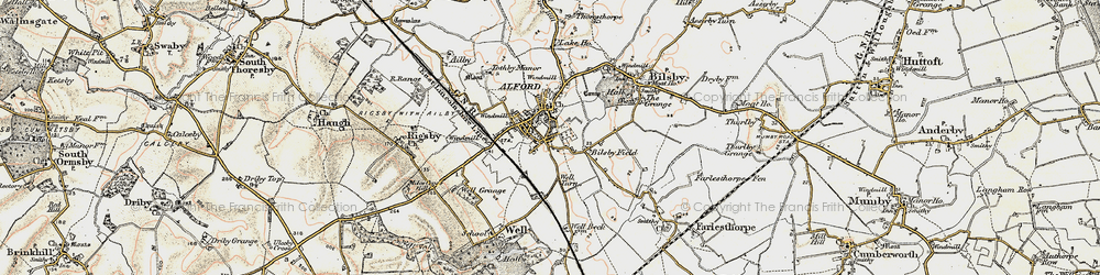 Old map of Alford in 1902-1903
