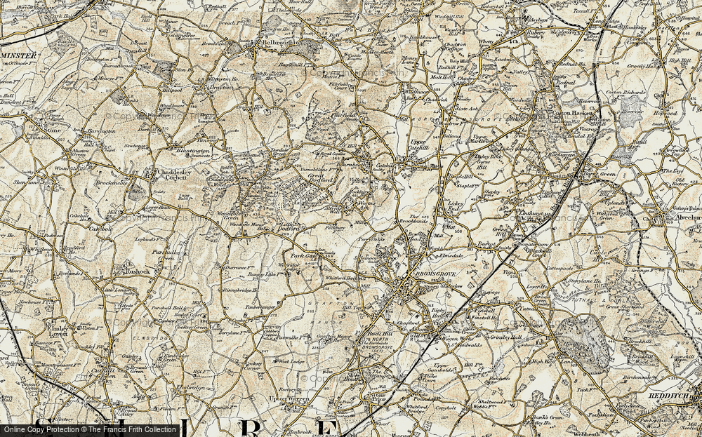 Old Map of Alfred's Well, 1901-1902 in 1901-1902