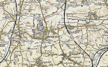 Old map of Alfreton Brook in 1902-1903