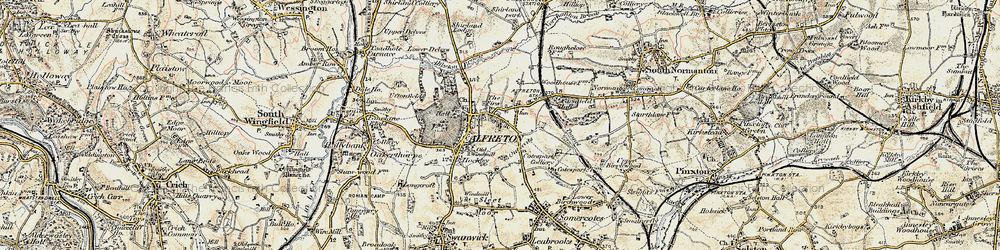 Old map of Alfreton in 1902-1903