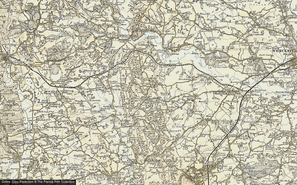 Old Map of Alfrick Pound, 1899-1901 in 1899-1901