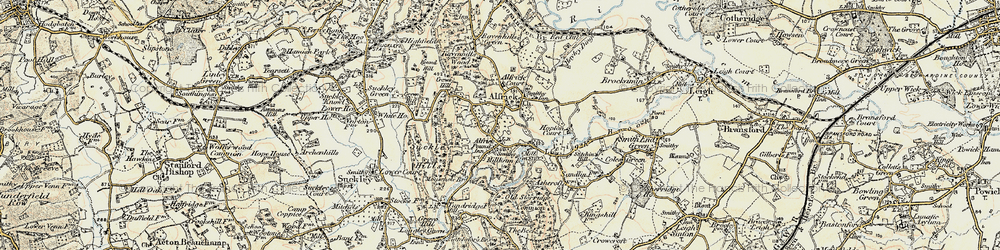 Old map of Alfrick Pound in 1899-1901