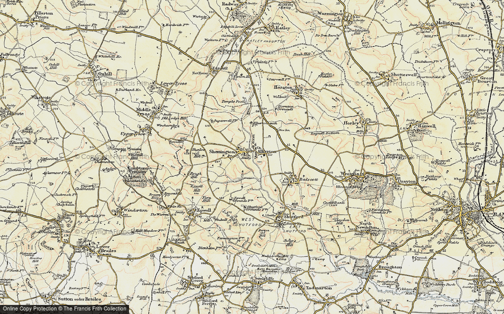 Old Map of Alkerton, 1898-1901 in 1898-1901