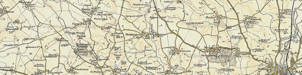 Old map of Alkerton in 1898-1901