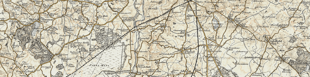 Old map of Alkington in 1902