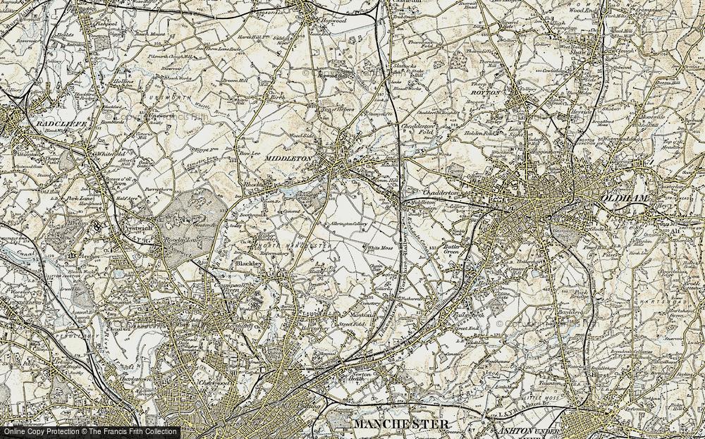 Old Map of Alkrington Garden Village, 1903 in 1903