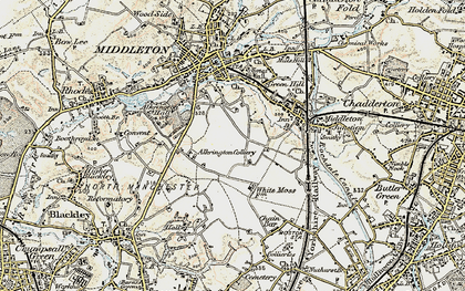 Old map of Alkrington Garden Village in 1903