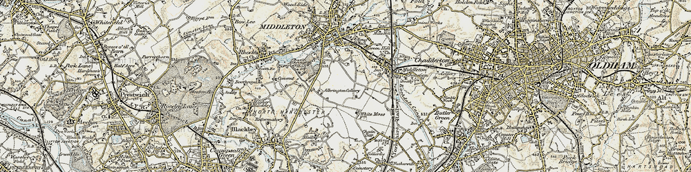 Old map of Tonge Hall in 1903