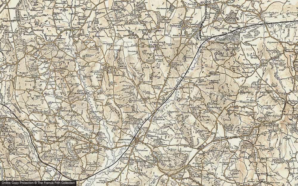 Old Map of All Saints, 1898-1899 in 1898-1899