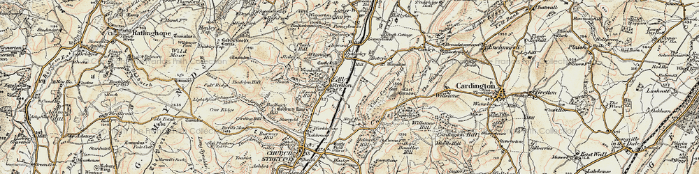 Old map of All Stretton in 1902-1903