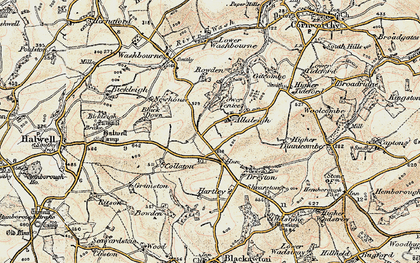Old map of Allaleigh in 1899