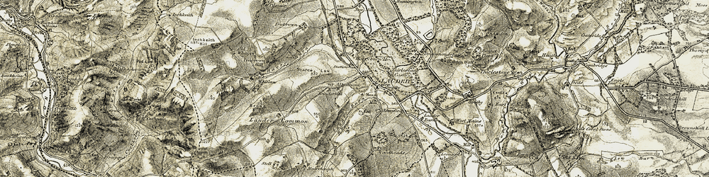 Old map of Allanbank in 1903-1904