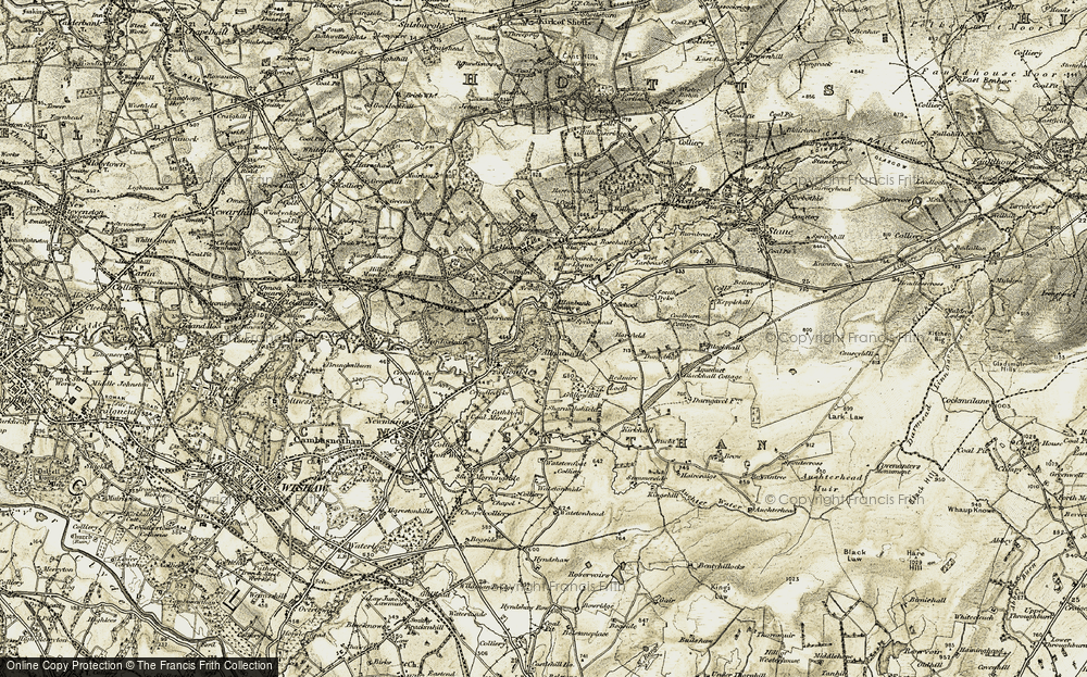 Old Map of Allanbank, 1904-1905 in 1904-1905