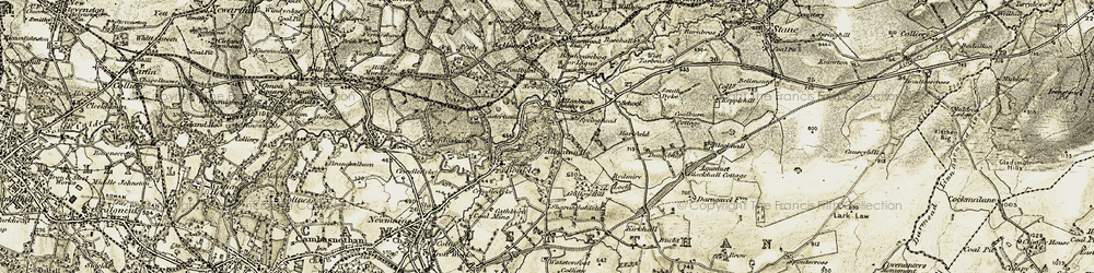 Old map of Allanbank in 1904-1905