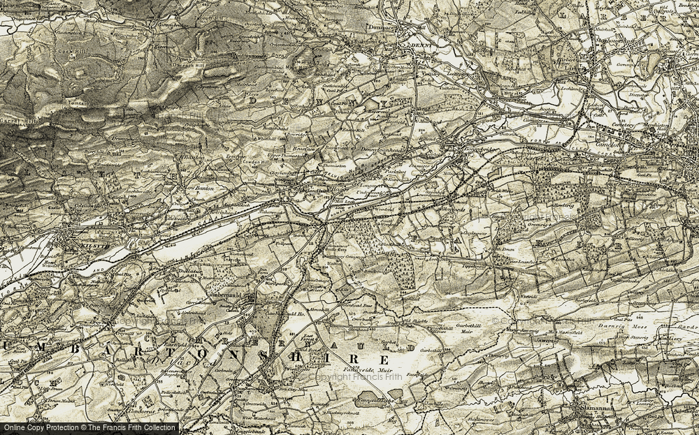 Old Map of Allandale, 1904-1907 in 1904-1907
