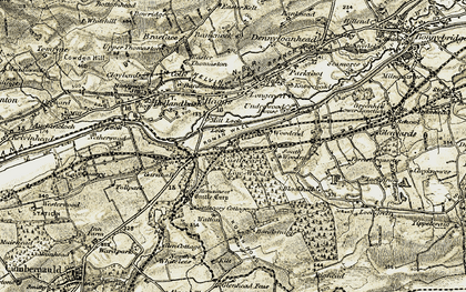 Old map of Allandale in 1904-1907