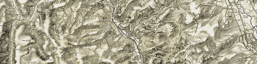 Old map of Allanshaugh in 1903-1904