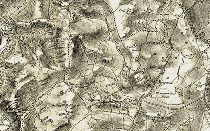 Old map of Allanshaws in 1903-1904