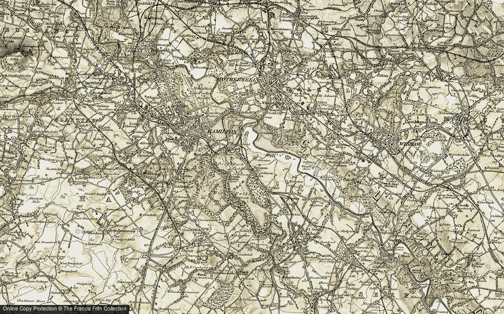 Old Map of Allanton, 1904-1905 in 1904-1905