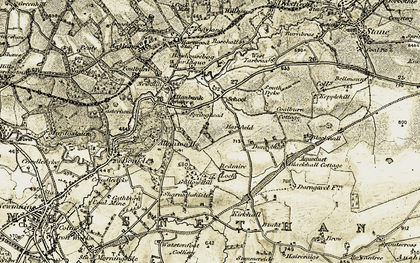 Old map of Allanton in 1904-1905