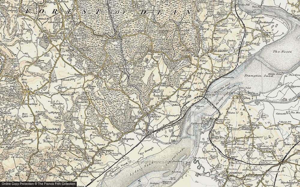 Old Map of Allaston, 1899-1900 in 1899-1900