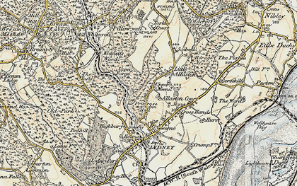 Old map of Allaston in 1899-1900