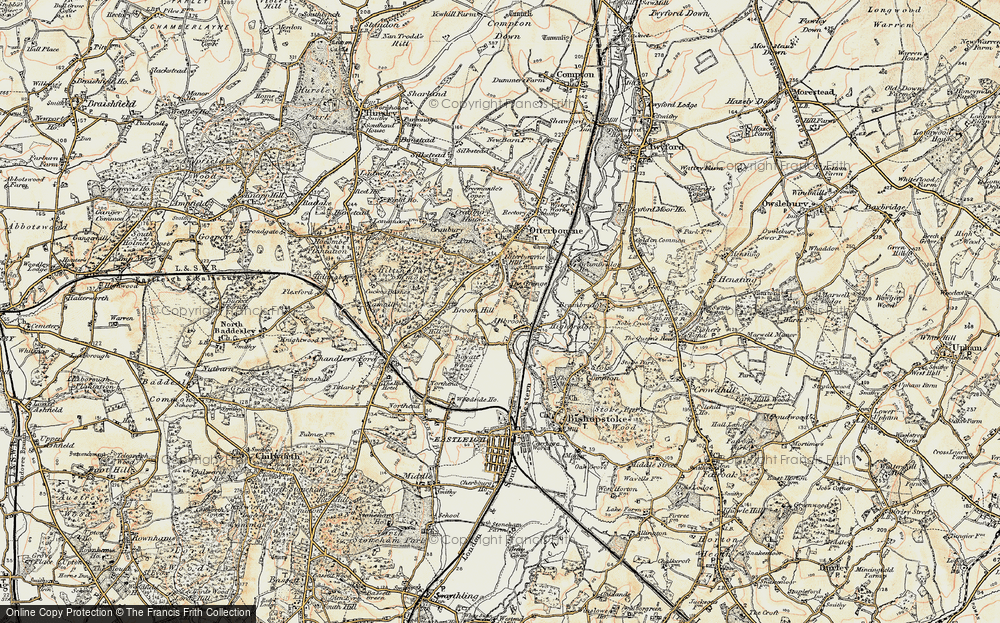 Old Map of Allbrook, 1897-1909 in 1897-1909