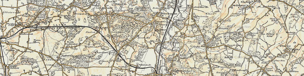 Old map of Allbrook in 1897-1909