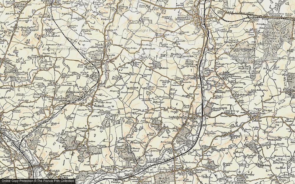 Old Map of Allen's Green, 1898-1899 in 1898-1899