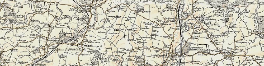 Old map of Allen's Green in 1898-1899