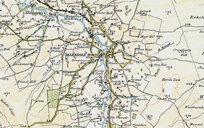 Old map of Allendale Town in 1901-1904