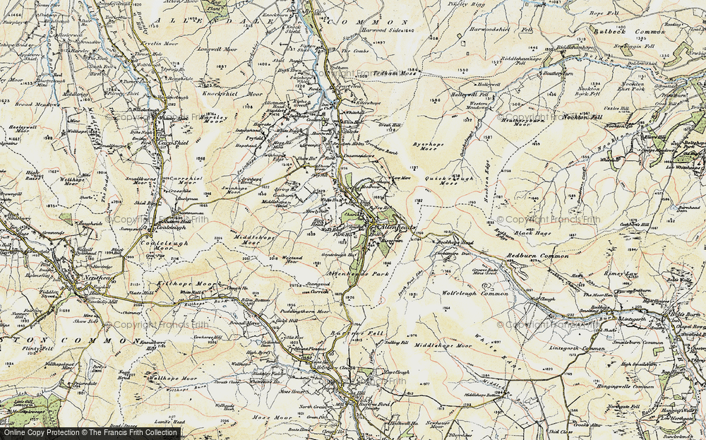 Old Map of Allenheads, 1901-1904 in 1901-1904