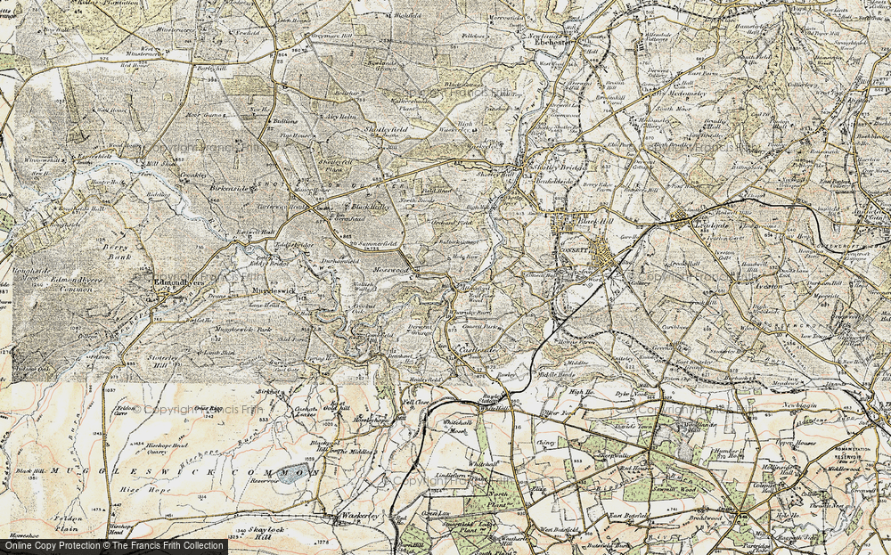 Old Map of Allensford, 1901-1904 in 1901-1904