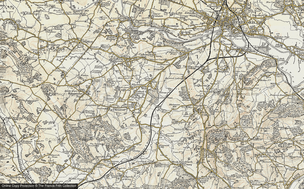 Old Map of Allensmore, 1900-1901 in 1900-1901