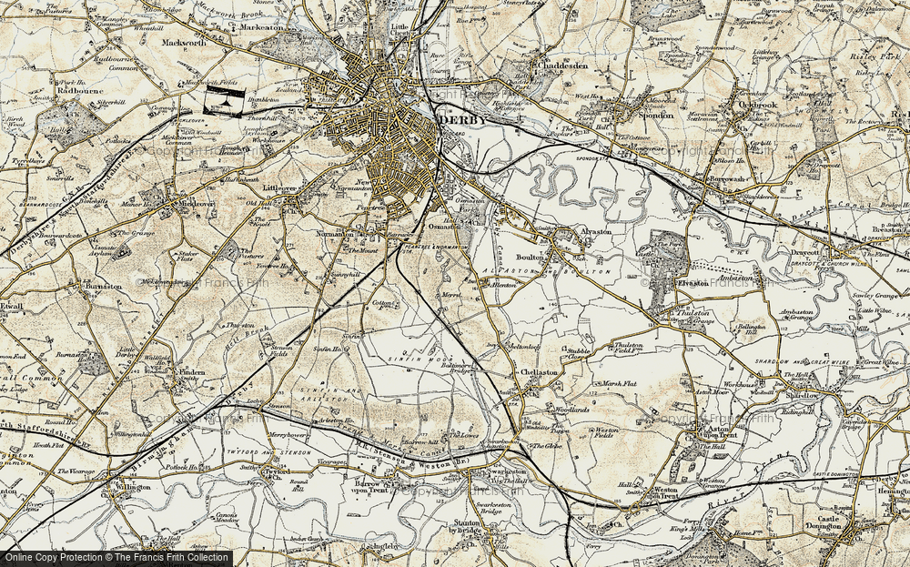 Old Map of Allenton, 1902-1903 in 1902-1903