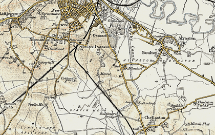 Old map of Allenton in 1902-1903