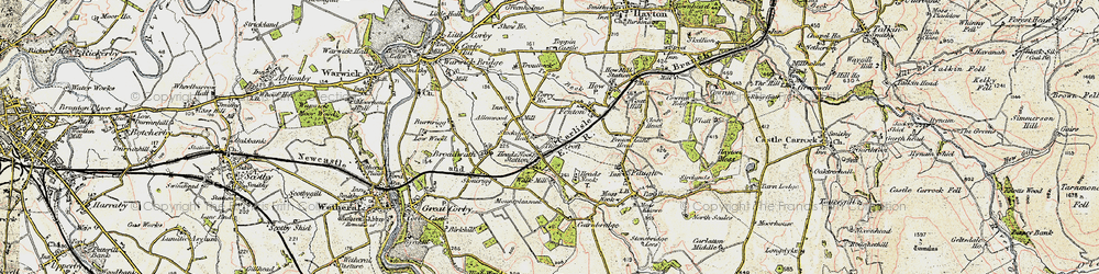 Old map of Allenwood in 1901-1904