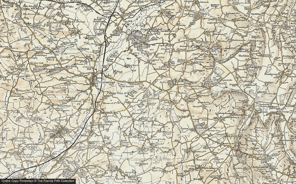 Old Map of Aller, 1898-1900 in 1898-1900