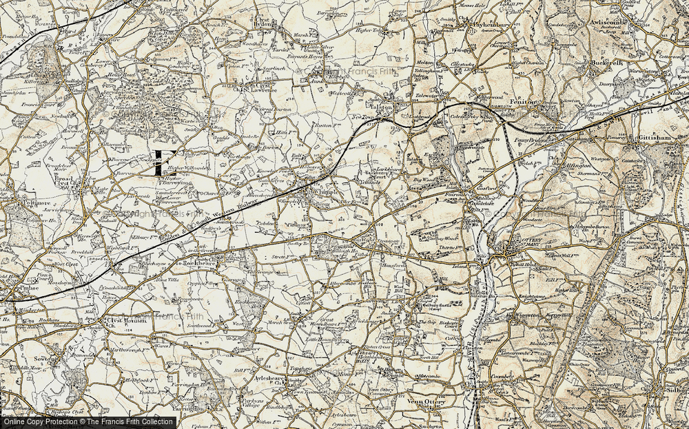 Old Map of Aller Grove, 1898-1900 in 1898-1900