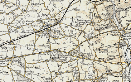 Old map of Aller Grove in 1898-1900