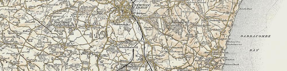Old map of Aller Park in 1899
