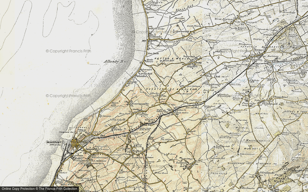 Old Map of Allerby, 1901-1905 in 1901-1905