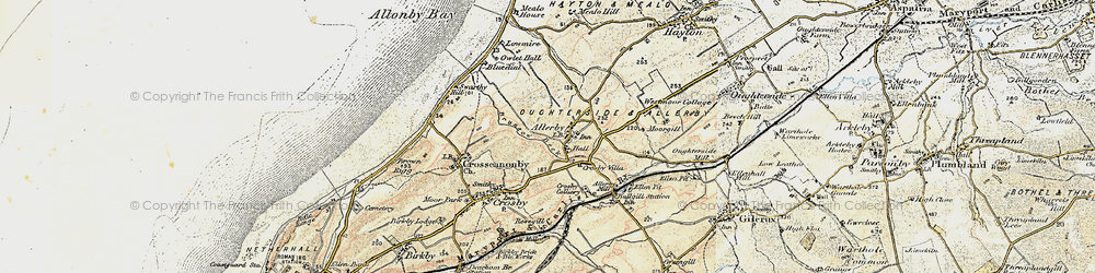 Old map of Allerby in 1901-1905