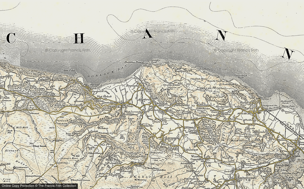 Old Map of Allerford, 1900 in 1900