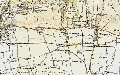 Old map of Allerston in 1903-1904