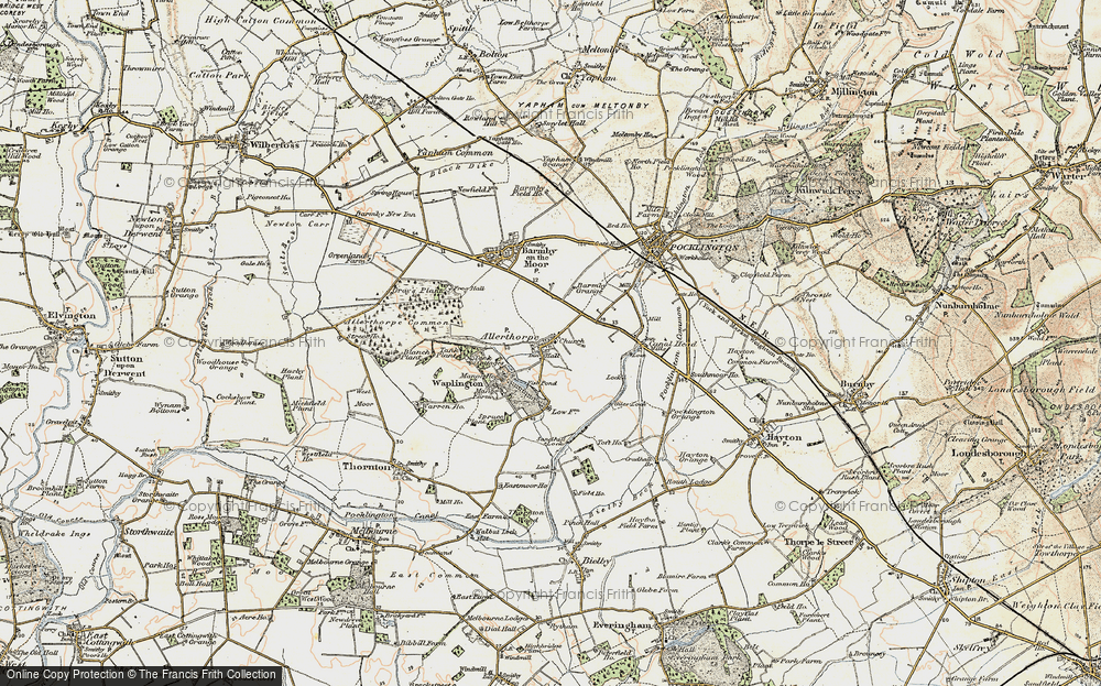 Old Map of Allerthorpe, 1903 in 1903