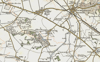 Old map of Allerthorpe in 1903